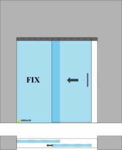 drzwi przesuwne 1s1f