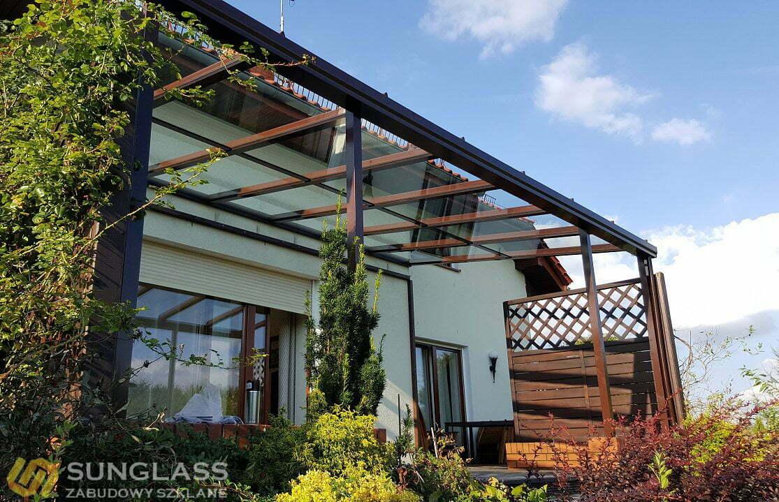 Niesamowite Zadaszenie tarasu | Ogrody zimowe | SUNGLASS - Zabudowy Szklane HC35