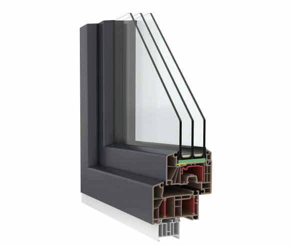 OKNA PVC fen-85-plus SUNGLASS